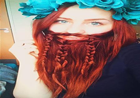 عکس های رقابت زنان و دختران با ریش و سبیل!