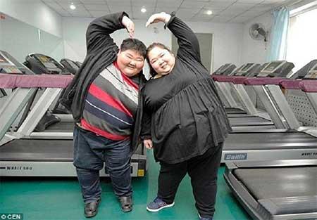 زن چاق,عکس شوهر و زن تپل