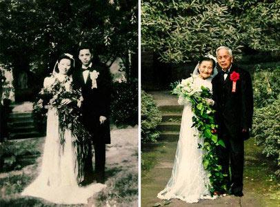 عکس هایی دیدنی از زن و شوهر عاشق و وفادار