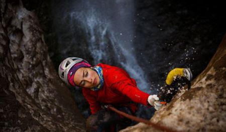 عکس های دختر یخی ایرانی همراه با گفتگو با این صخره نورد