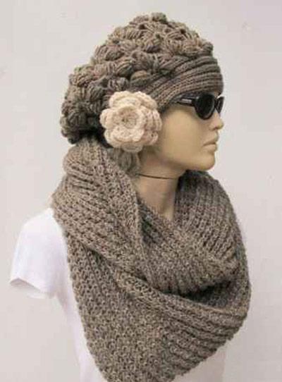 مدل شال و کلاه,شال بافتنی,شال گردن,کلاه زنانه