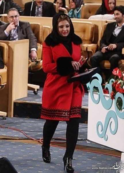 مدل پالتو نیوشا ضیغمی در جشن هنرمندان