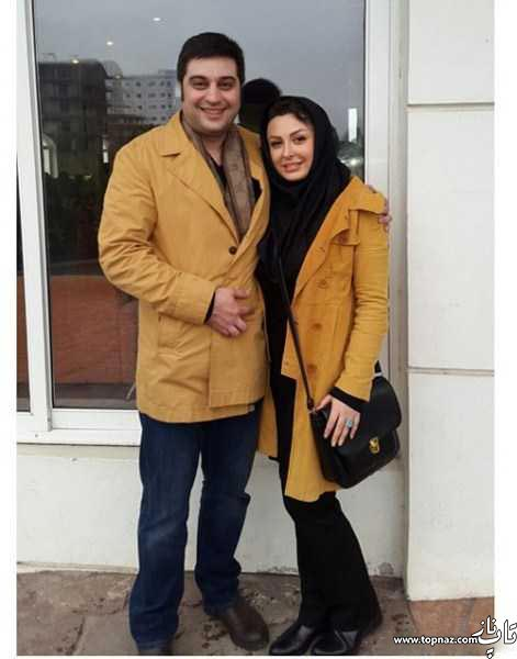 مدل پالتو ست نیوشا ضیغمی و همسرش