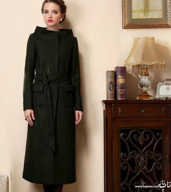 مدل پالتو زنانه اروپایی ساده ولی خیلی شیک و زیبا 2016