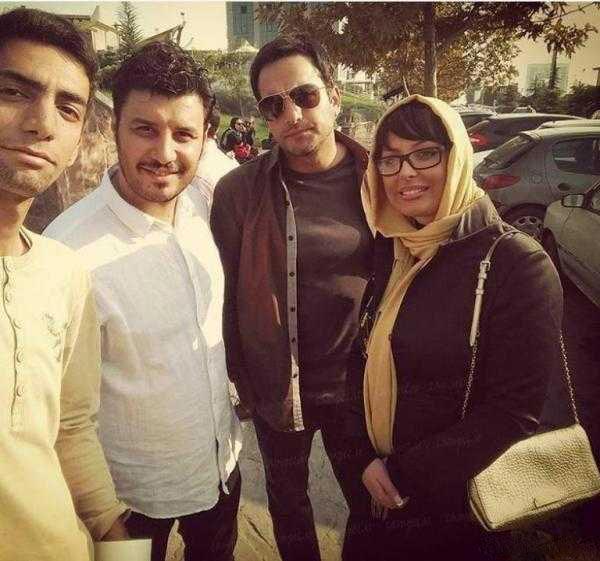 عکس از چهره جالب نیوشا ضیغمی در کنار جواد عزتی و حامد کمیلی