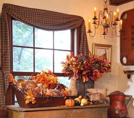 دکوراسیون زیبا و چیدمان گرم برای پاییز