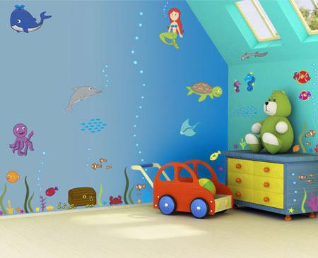 مدل کاغذ دیواری فانتزی برای اتاق کودک
