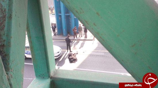 عکس هایی از خودکشی دختر 25 ساله در میدان رسالت