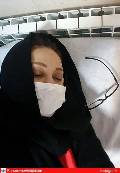بهنوش بختیاری در بیمارستان