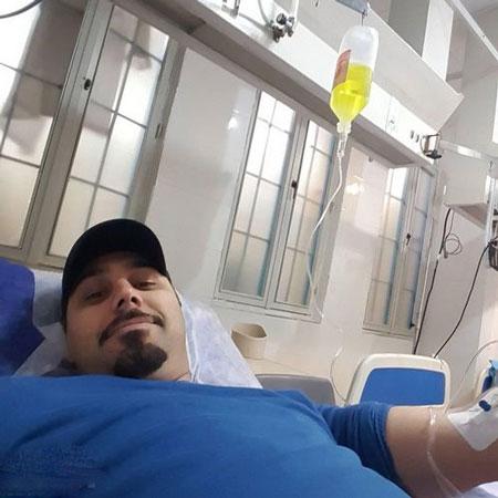 احسان خواجه امیری در بیمارستان