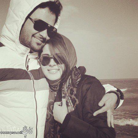 عکس عاشقانه مهدی سلوکی و همسرش