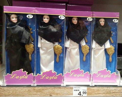 عروسک باربی با حجاب