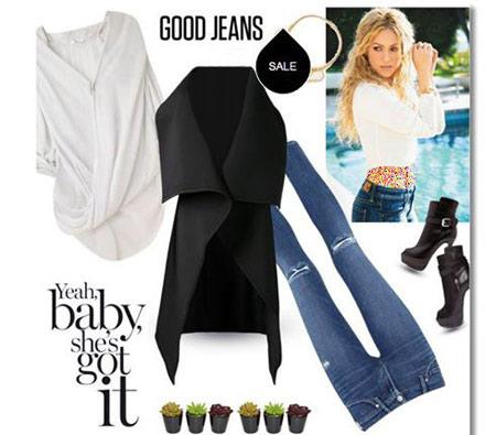 ست شلوار جین به سبک شکیرا, ست لباس های شکیرا