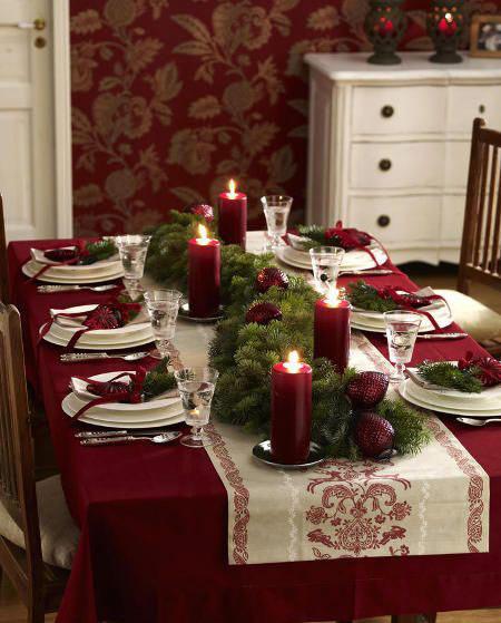 تزیین درخت کریسمس,تزیین میز غذای کریسمس