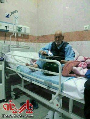 عکس از حرکت باورنکردنی و جنجالی پیرمرد در بیمارستان!