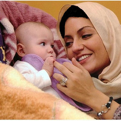 عکس جدید از مهناز افشار و دختر نازش لیانا