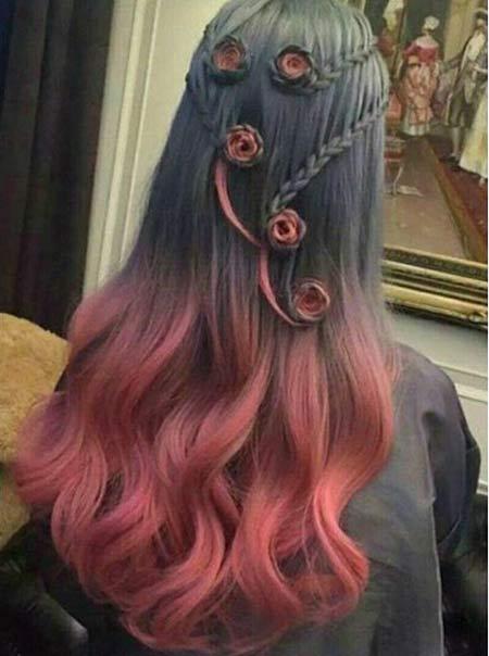مدل های رنگ موی فانتزی زیبای دخترانه و زنانه 2016