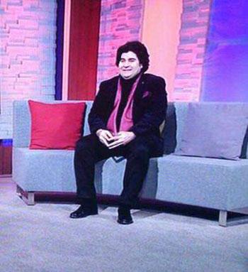 عکس سالار عقیلی در کنار سالومه و بهزاد بلور در شبکه من و تو