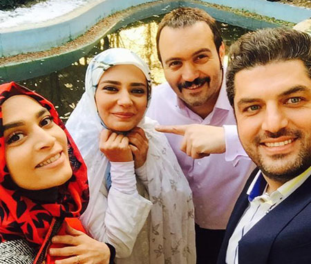 عکس های داغ و دیدنی پشت صحنه سریال بام تهران