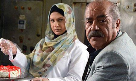 بهزاد فراهانی و لعیا زنگنه در سریال پشت بام تهران