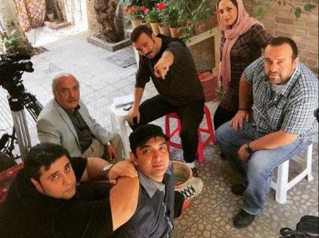 تصاویر پشت صحنه سریال پشت بام تهران