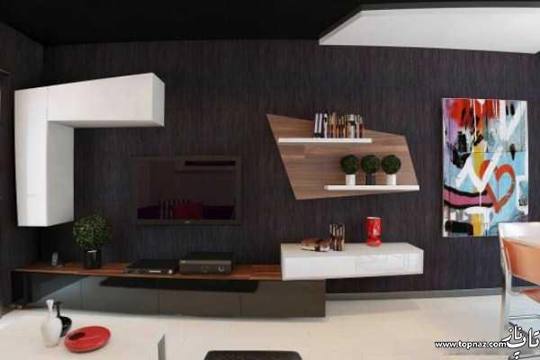 مدل های میز ال سی دی چوبی - جدیدترین مدل میز ال سی دی ام دی اف - میز تلویزیون و میز ال سی دی دیواری و زمینی