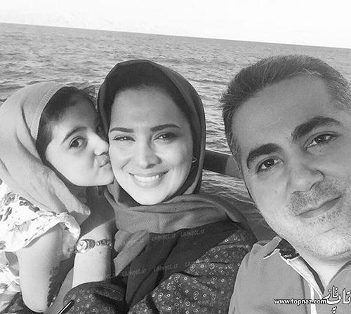 روشنک عجمیان و همسر و دخترش