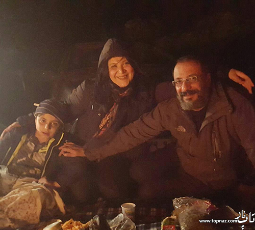 امیر جعفری و همسرش ریما رامین فر و پسرشان