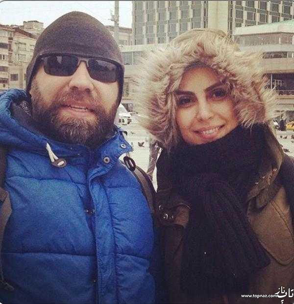 افتخار سادات سعیدی و همسرش