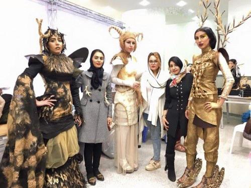 عکس های شو لباس دختران در دانشگاه الزهرا تهران