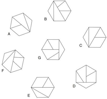 تست هوش حذف کردن شش ضلعی ها