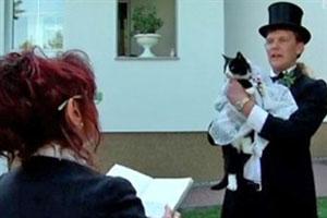 مرد آلمانی با گربه ماده اش ازدواج کرد!