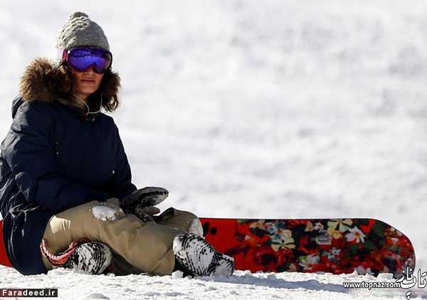 عکس های زنان بی حجاب و بد حجاب در پیست اسکی دیزین