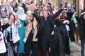 مراسم عروسی به سبک زامبی ها و خون آشام ها! +عکس