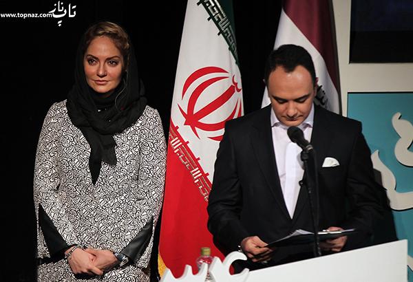 مهناز افشار در افتتاحیه سی و چهارمین جشنواره فیلم فجر