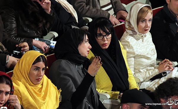 لیلا بلوکات و کتایون ریاحی در افتتاحیه سی و چهارمین جشنواره فیلم فجر