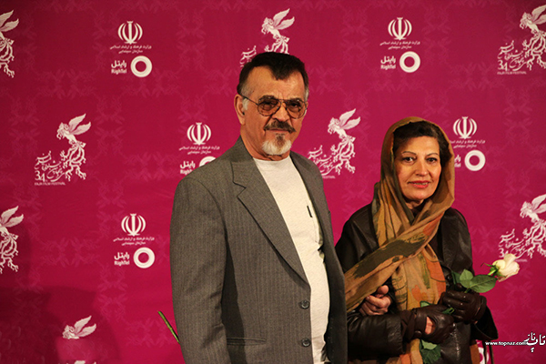 مهدی فخیم زاده و همسرش در افتتاجیه سی و چهارمین جشنواره فیلم فجر