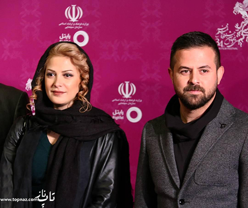 هومن سیدی و طناز طباطبایی در افتتاجیه سی و چهارمین جشنواره فیلم فجر