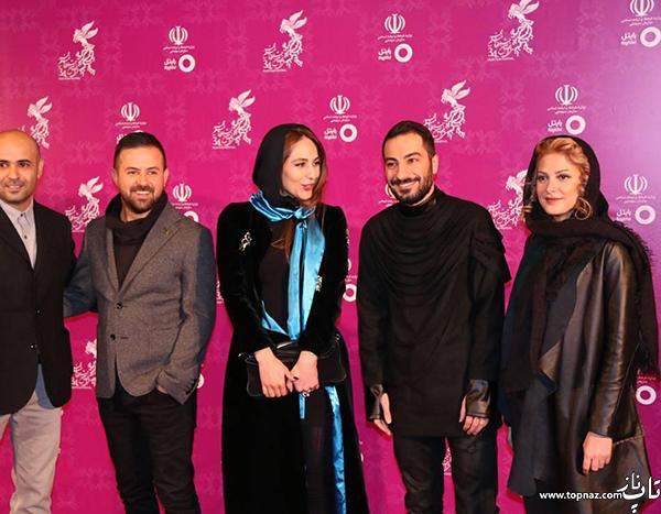 بازیگران در افتتاجیه سی و چهارمین جشنواره فیلم فجر