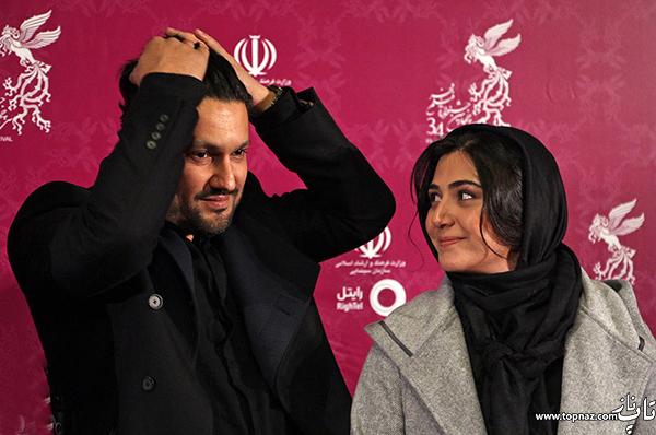 باران کوثری و حامد بهداد در افتتاحیه سی و چهارمین جشنواره فیلم فجر