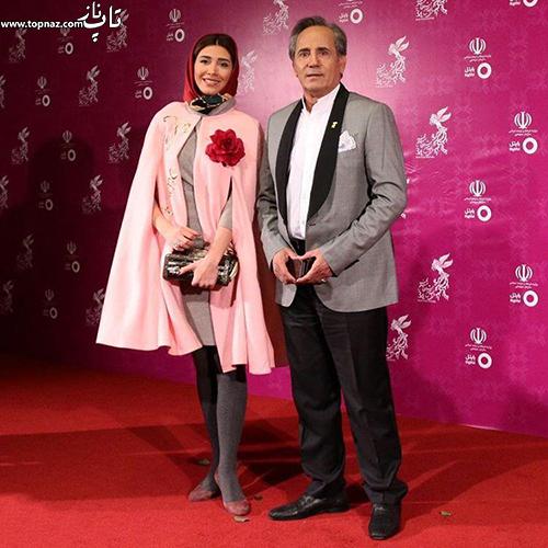 مجید و نیکی مظفری در افتتاجیه سی و چهارمین جشنواره فیلم فجر