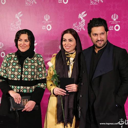 حامد بهداد و تینا پاکروان و ستاره اسکندری در افتتاجیه سی و چهارمین جشنواره فیلم فجر