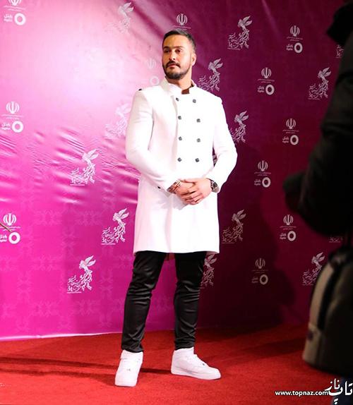 میلاد کی مرام در افتتاجیه سی و چهارمین جشنواره فیلم فجر