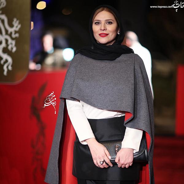 سحر دولتشاهی در افتتاجیه سی و چهارمین جشنواره فیلم فجر