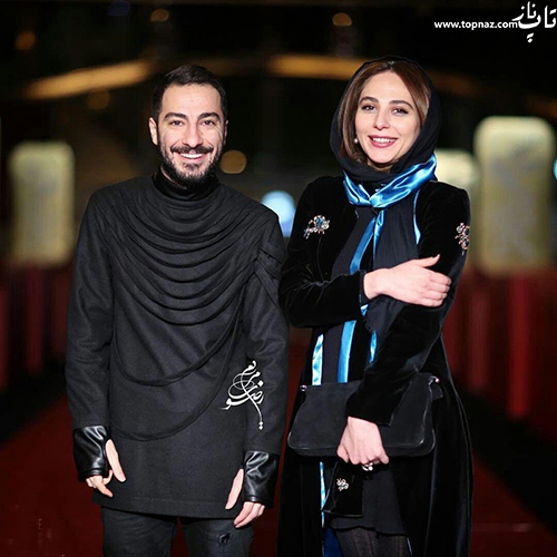 رعنا آزادی ور و نوید محمد زاده در افتتاجیه سی و چهارمین جشنواره فیلم فجر