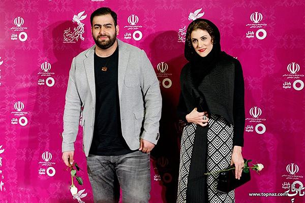 ویشکا آسایش در افتتاحیه سی و چهارمین جشنواره فیلم فجر