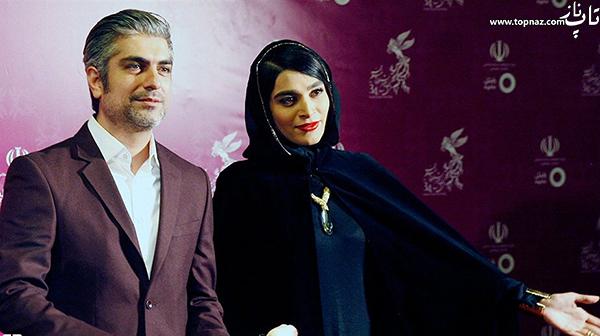 اندیشه فولادوند و مهدی پاکدل در افتتاحیه سی و چهارمین جشنواره فیلم فجر