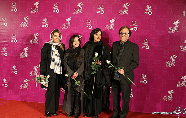 رویا تیموریان و همسر و فرزندانش در افتتاحیه جشنواره فیلم فجر