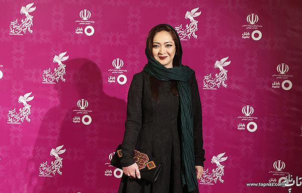 نیکی کریمی در افتتاحیه سی و چهارمین جشنواره فیلم فجر