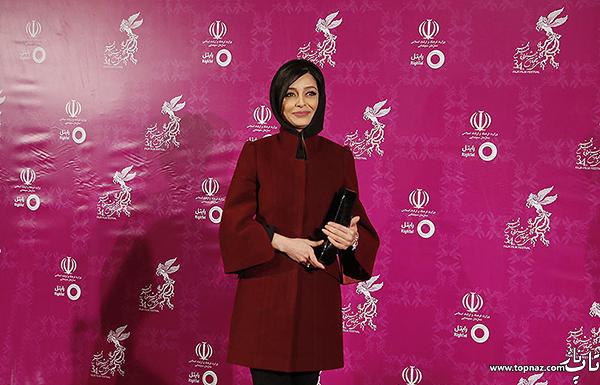 ساره بیات در افتتاحیه سی و چهارمین جشنواره فیلم فجر